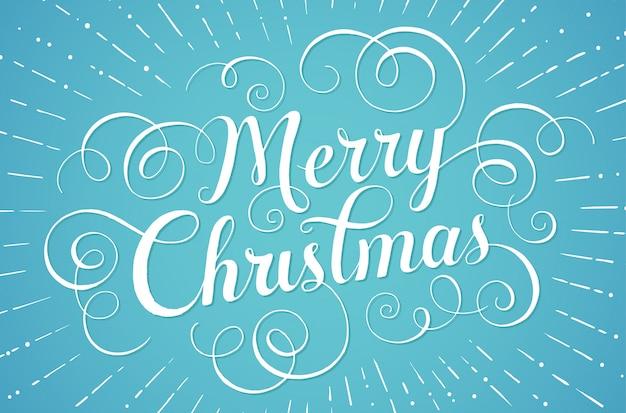 Letras blancas feliz navidad