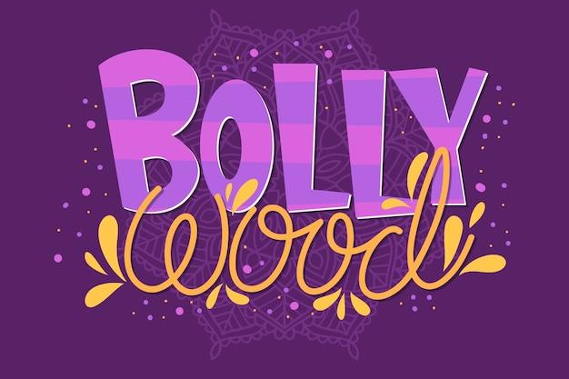 Letras de bollywood con papel tapiz mandala