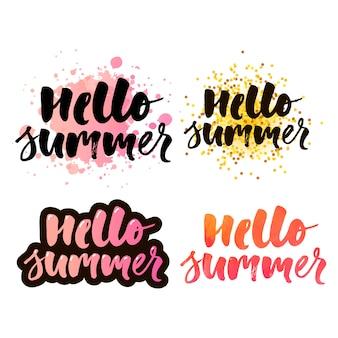 Letras de caligrafía de letras de texto de horario de verano negro