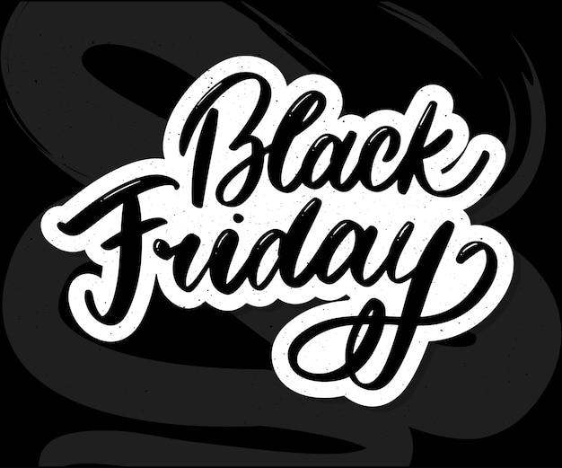 Letras caligráficas del viernes negro
