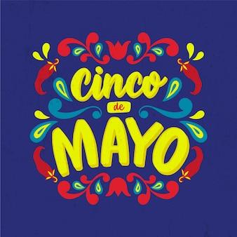 Letras de cinco de mayo con chiles