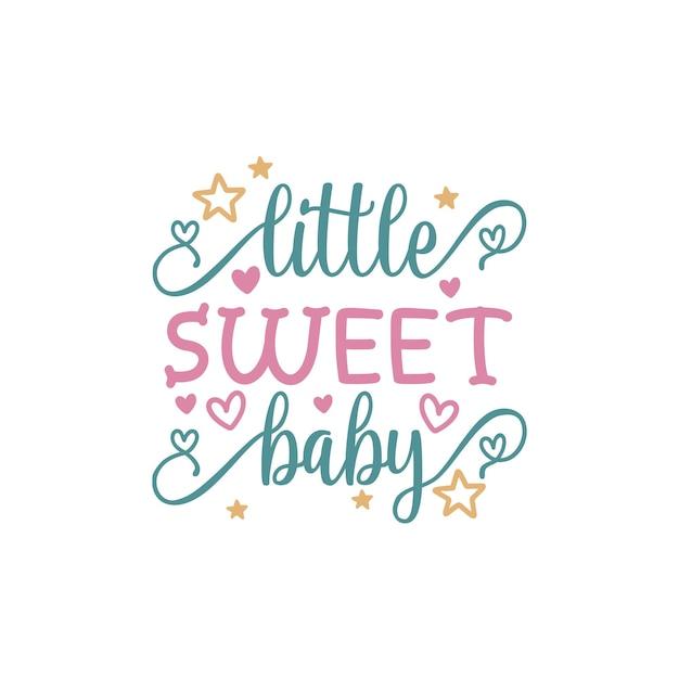 Letras de cita de bebé dulce