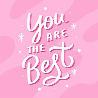 Letras cita cartel motivacional eres el mejor
