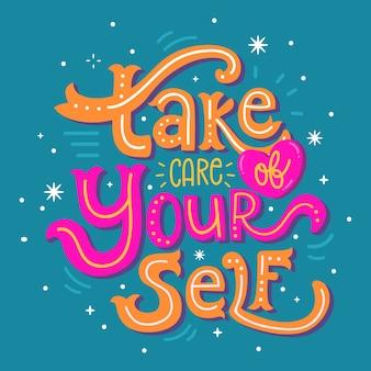 Letras coloridas de amor propio