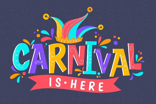 Letras coloridas de carnaval