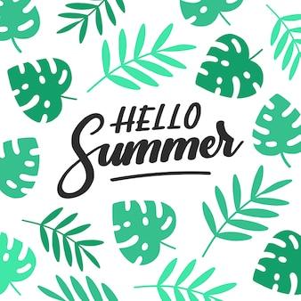 Letras coloridas de verano