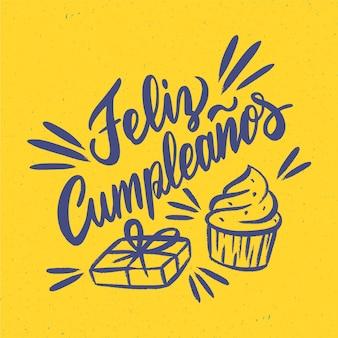 Letras de concepto de feliz cumpleaños