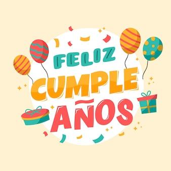 Letras con concepto de feliz cumpleaños