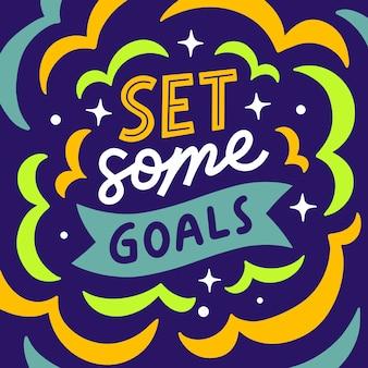 Letras cotizaciones cartel motivación establece algunas metas