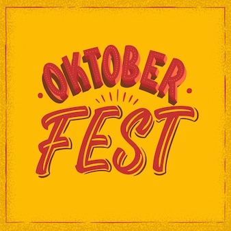 Letras creativas del evento oktoberfest