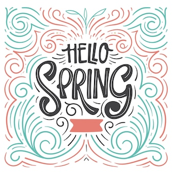 Letras creativas de hello spring