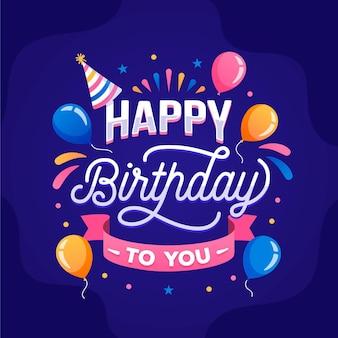 Letras de cumpleaños detalladas