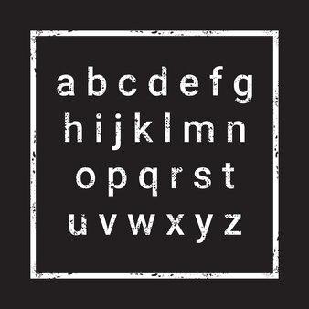 Letras del alfabeto sobre fondo con textura grunge v