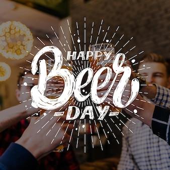 Letras del día internacional de la cerveza con foto