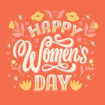 Letras del día internacional de la mujer dibujadas a mano