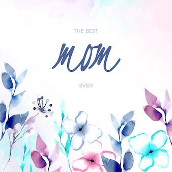 Letras del día de la madre de diseño floral