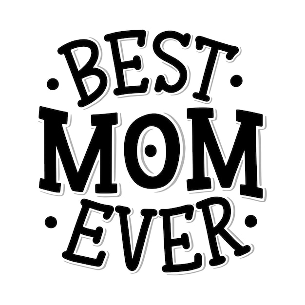 Letras del día de la madre para la tarjeta de regalo, cita de celebración.