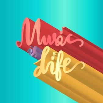 Letras del día de la música mundial vintage para pancarta e insignia. pegatina, cartel, plantilla de diseño de tarjeta. vector