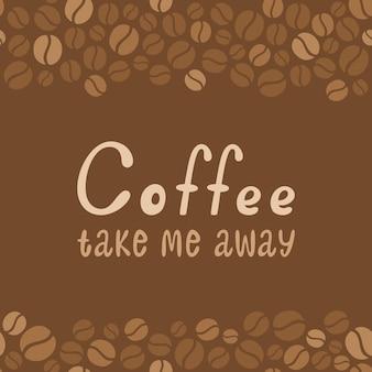 Letras de diseño de café. menú para restaurante, cafetería, bar.