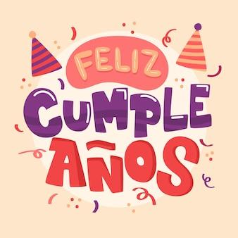 Letras con diseño de feliz cumpleaños