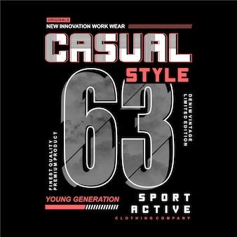 Letras de estilo casual tipografía de diseño gráfico abstracto para camiseta estampada
