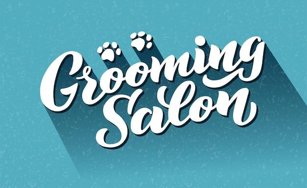 Letras de estilo de perro para peluquería logotipo para peluquería de perros tienda de peluquería y peluquería para perros