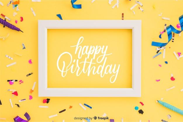 Letras de feliz cumpleaños con foto