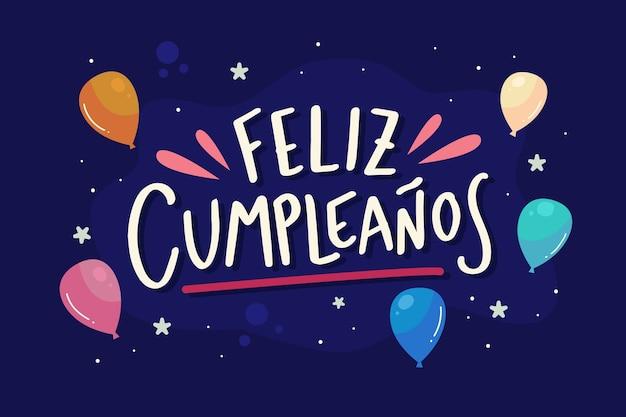 Letras de feliz cumpleaños con globos