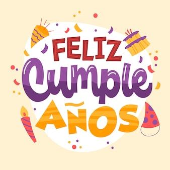 Letras con feliz cumpleaños