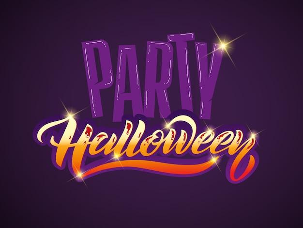 Letras de feliz halloween vector