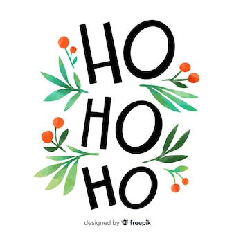 Letras de feliz navidad con ho ho ho