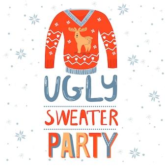 Letras de fiesta suéter feo
