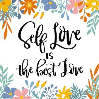Letras flores amor propio