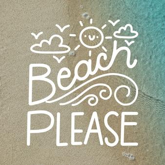 Letras de fondo de verano con imagen
