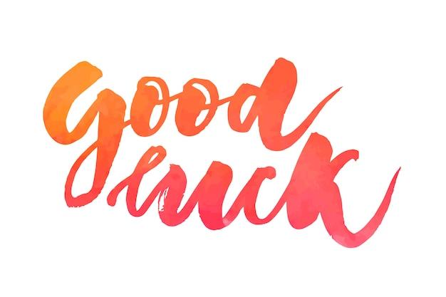 Letras con frase buena suerte. ilustracion vectorial