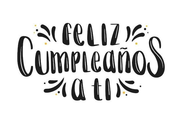 Letras de fuente feliz cumpleaños negro
