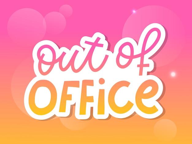 Letras fuera de la oficina