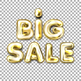 Letras de globo de papel dorado de gran venta