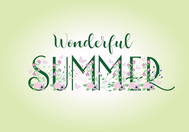 Letras de letras de tipografía de verano