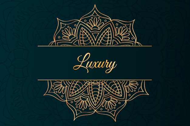 Letras de lujo y fondo de mandala
