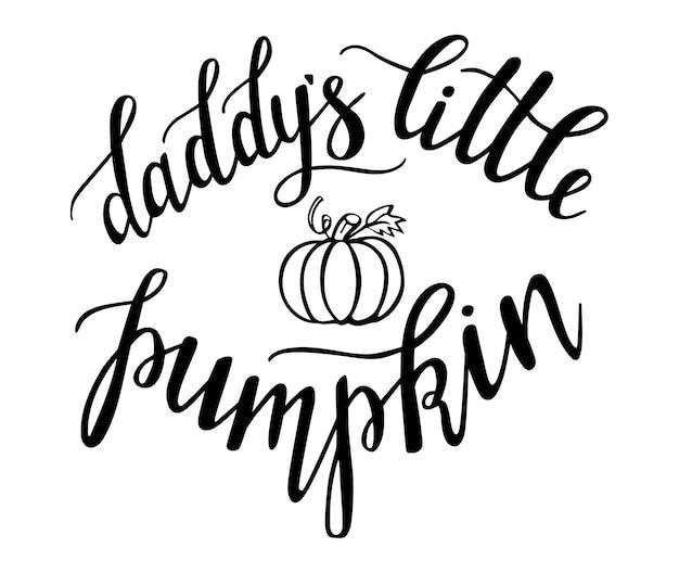 Letras de mano de calabaza de papá para el día de acción de gracias y la temporada de halloween