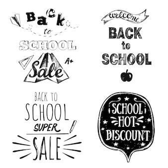 Letras de mano de regreso a la escuela