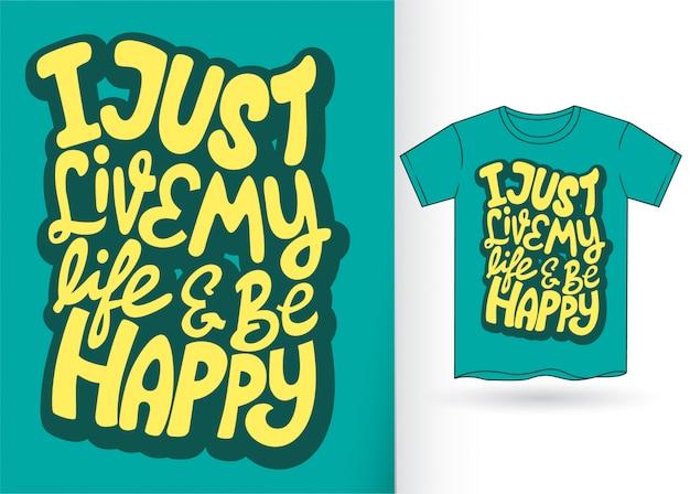 Letras de la mano de la tipografía para la camiseta