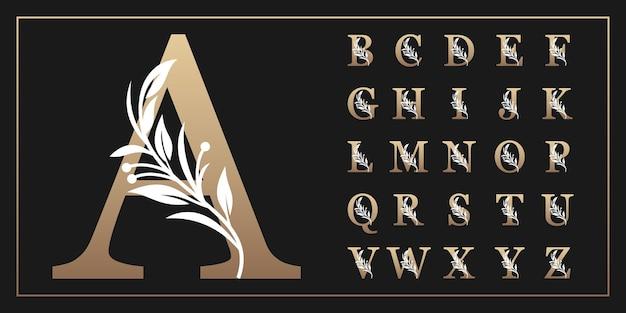 Letras mayúsculas del alfabeto botánico