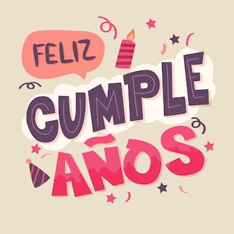Letras con mensaje de feliz cumpleaños