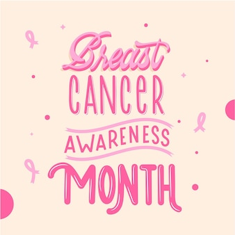 Letras del mes de concientización sobre el cáncer de mama
