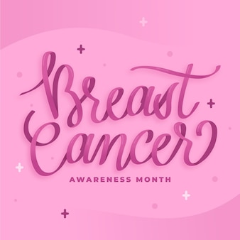 Letras del mes de concientización sobre el cáncer