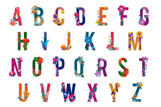 Letras con motivos florales