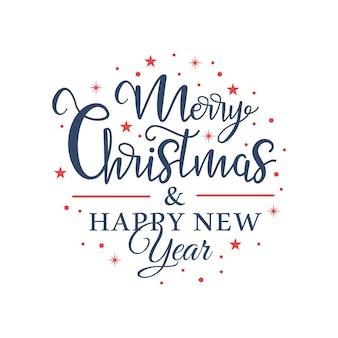 Letras navideñas en forma de círculo y copos de nieve en el interior.