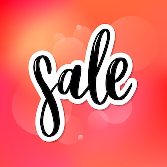 Letras negras: venta, tipografía de letras de venta bosquejada a mano. dibujado a mano signo de venta de letras. insignia, icono, pancarta, etiqueta, ilustración